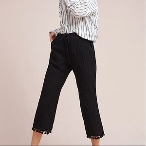 NWT Anthropologie Tassel Trimmed Pants